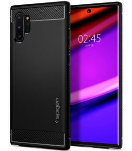 """Matinis juodas dėklas Samsung Galaxy Note 10 Plus telefonui """"Spigen Rugged Armor"""""""