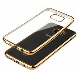 """Auksinės spalvos silikoninis dėklas Samsung Galaxy A5 2016 Edge Telefonui """"Glossy"""""""