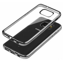 """Juodas silikoninis dėklas Samsung Galaxy A3 2016 A310 Edge Telefonui """"Glossy"""""""