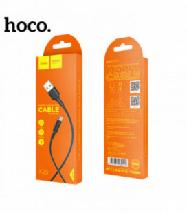USB kabelis Hoco X25 microUSB 1.0m juodas