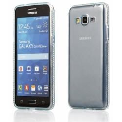 """Žalias silikoninis dėklas su blizgučiais Samsung Galaxy Grand Prime G530 telefonui """"Crystals"""""""