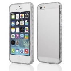 """Skaidrus silikoninis dėklas su blizgučiais Apple iPhone 5/5s/SE telefonui """"Crystals"""""""