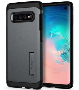 "Pilkas dėklas Samsung Galaxy S10 telefonui ""Spigen Tough Armor"""