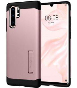 """Rausvai auksinės spalvos dėklas Huawei P30 Pro telefonui """"Spigen Slim Armor"""""""