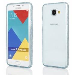 """Žalias silikoninis dėklas su blizgučiais Samsung Galaxy A3 2016 A310 telefonui """"Crystals"""""""