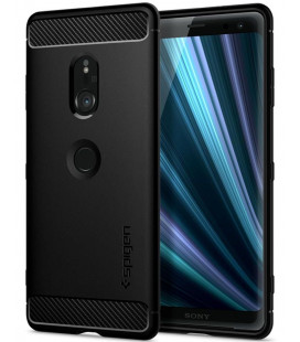 "Juodas dėklas Sony Xperia XZ3 telefonui ""Spigen Rugged Armor"""