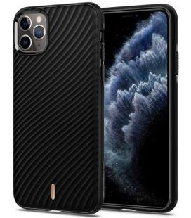 "Juodas dėklas Apple iPhone 11 Pro Max telefonui ""Spigen Wave Shell"""