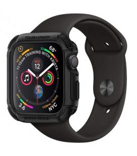 """Juodas dėklas Apple Watch 4/5 (44mm) laikrodžiui """"Spigen Touch Armor"""""""