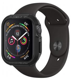 """Juodas dėklas Apple Watch 4 / 5 / 6 / 7 / SE (44 / 45 mm) laikrodžiui """"Spigen Rugged Armor"""""""