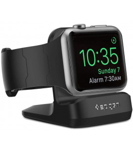 "Juodas stovas Apple Watch 38 / 40 / 41 / 42 / 44 / 45 laikrodžiams ""Spigen S350 Night Stand"""