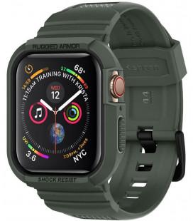 """Žalias dėklas Apple Watch 4/5 (44mm) laikrodžiui """"Spigen Rugged Armor PRO"""""""