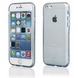 """Mėlynas silikoninis dėklas su blizgučiais Apple iPhone 6 Plus/6s Plus telefonui """"Crystals"""""""