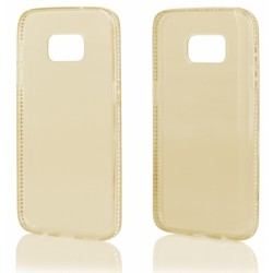 """Auksinės spalvos silikoninis dėklas su blizgučiais Samsung Galaxy S7 Edge G935 telefonui """"Crystals"""""""