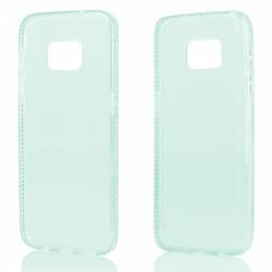 """Žalias silikoninis dėklas su blizgučiais Samsung Galaxy S7 Edge G935 telefonui """"Crystals"""""""