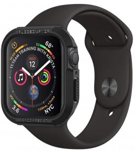 """Juodas dėklas Apple Watch 4 / 5 / 6 / 7 / SE (40 / 41 mm) laikrodžiui """"Spigen Rugged Armor"""""""