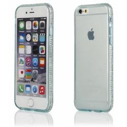 """Žalias silikoninis dėklas su blizgučiais Apple iPhone 6/6s telefonui """"Crystals"""""""
