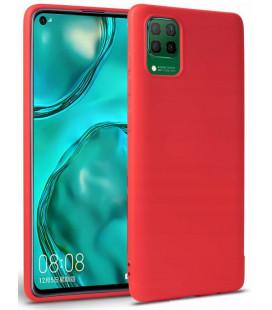 """Raudonas dėklas Huawei P40 Lite telefonui """"Tech-protect Icon"""""""