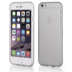 """Skaidrus silikoninis dėklas su blizgučiais Apple iPhone 6/6s telefonui """"Crystals"""""""