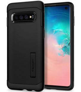 """Juodas dėklas Samsung Galaxy S10 telefonui """"Spigen Slim Armor"""""""