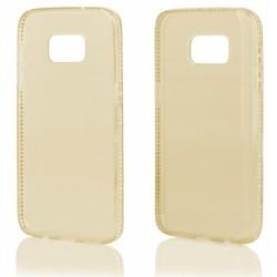 """Auksinės spalvos silikoninis dėklas su blizgučiais Samsung Galaxy S7 G930 telefonui """"Crystals"""""""