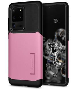 """Rožinis dėklas Samsung Galaxy S20 Ultra telefonui """"Spigen Slim Armor"""""""
