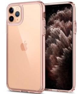 "Rožinis/skaidrus dėklas Apple iPhone 11 Pro telefonui ""Spigen Ultra Hybrid"""