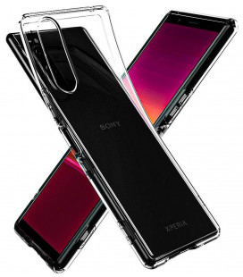 "Skaidrus dėklas Sony Xperia 5 telefonui ""Spigen Liquid Crystal"""