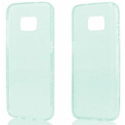 """Žalias silikoninis dėklas su blizgučiais Samsung Galaxy S7 G930 telefonui """"Crystals"""""""