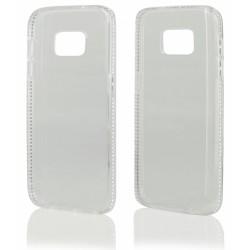 """Skaidrus silikoninis dėklas su blizgučiais Samsung Galaxy S7 G930 telefonui """"Crystals"""""""