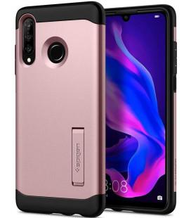"""Rausvai auksinės spalvos dėklas Huawei P30 Lite telefonui """"Spigen Slim Armor"""""""