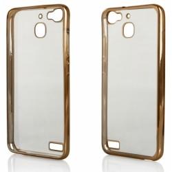"""Auksinės spalvos silikoninis dėklas Huawei P9 Telefonui """"Glossy"""""""