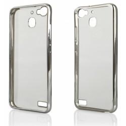 """Sidabrinės spalvos silikoninis dėklas Huawei P9 Telefonui """"Glossy"""""""