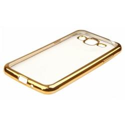 """Auksinės spalvos silikoninis dėklas Samsung Galaxy J3 2016 J310 Telefonui """"Glossy"""""""