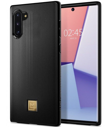 "Juodas dėklas Samsung Galaxy Note 10 telefonui ""Spigen La Manon Classy"""