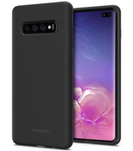 """Juodas silikoninis dėklas Samsung Galaxy S10 Plus telefonui """"Spigen Silicone Fit"""""""