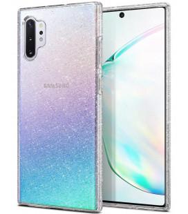 "Skaidrus dėklas su blizgučiais Samsung Galaxy Note 10 Plus telefonui ""Spigen Liquid Crystal Glitter"""