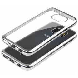 """Sidabrinės spalvos silikoninis dėklas Samsung Galaxy S5 G900 Telefonui """"Glossy"""""""