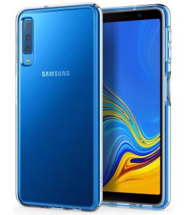 "Skaidrus dėklas Samsung Galaxy A7 2018 telefonui ""Spigen Liquid Crystal"""