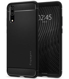 """Juodas dėklas Huawei P20 telefonui """"Spigen Rugged Armor"""""""