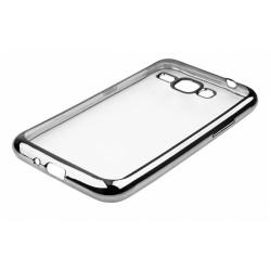 """Juodas silikoninis dėklas Samsung Galaxy J1 2016 J120 Telefonui """"Glossy"""""""
