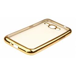"""Auksinės spalvos silikoninis dėklas Samsung Galaxy J1 2016 J120 Telefonui """"Glossy"""""""