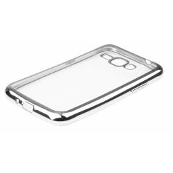 """Sidabrinės spalvos silikoninis dėklas Samsung Galaxy J1 2016 J120 Telefonui """"Glossy"""""""