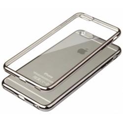"""Juodas silikoninis dėklas Apple iPhone 6/6s Telefonui """"Glossy"""""""