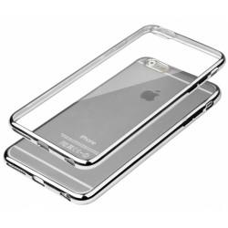 """Sidabrinės spalvos silikoninis dėklas Apple iPhone 6/6s Telefonui """"Glossy"""""""