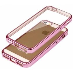 """Rožinis silikoninis dėklas Apple iPhone 5/5s/SE Telefonui """"Glossy"""""""