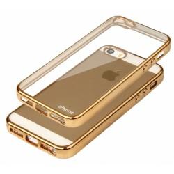 """Auksinės spalvos silikoninis dėklas Apple iPhone 5/5s/SE Telefonui """"Glossy"""""""