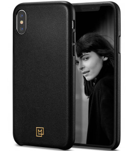"Juodas dėklas Apple iPhone X/XS telefonui ""Spigen La Manon Calin"""