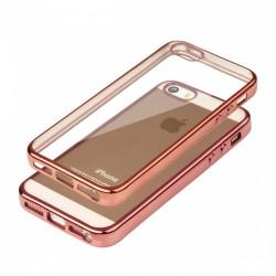 """Rausvai auksinės spalvos silikoninis dėklas Apple iPhone 5/5s/SE Telefonui """"Glossy"""""""