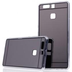 """Juodas silikoninis dėklas Huawei P9 telefonui """"Mirror"""""""