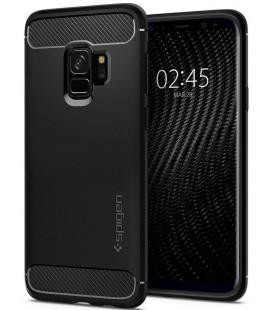 """Matinis juodas dėklas Samsung Galaxy S9 telefonui """"Spigen Rugged Armor"""""""
